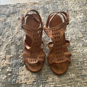 Via Spiga Tan Strappy heels size 7